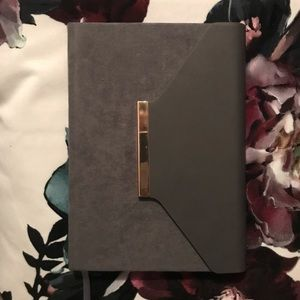 Other - Grey Lined Notebook with Gold Magnetic Closure